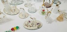 Christmas and Other Mini Clear glass Sculptures/Figurines (Set of 20)
