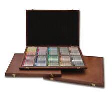PASTELS-144 Colors 3 sets,120 color semi hard-wood case+12 ea Gray & Earth Tones