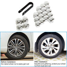 20X Wheel Nut Caps Bolt Covers For Audi VW Vauxhall Bmw Mercedes Renault 17mm