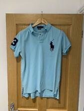 Ralph Lauren - Light Blue Custom Fit Large Horse Polo - Size Large