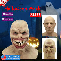 Halloween Creepy Latex Face Mask Cosplay Costume Party Prop Scary Realistic Mask
