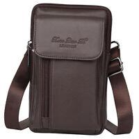Men's Vertical Belt Clip Phone Holster Waist Bag Leather Pouch Cover Case