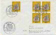 BERLIN 1969, Weihnachten 10 + 5 Pf Pra.-FDC selt. MeF portogerecht frankiert