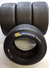 4 Gomme pneumatici Michelin slick da corsa pista 20 54 13 usate S412 50% consumo