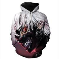Fitnessmode Tokyo Ghoul Cosplay 3d Anime Kapuzen Sweatshirt Langarm T-shirt Hoodie Pullover Kleidung