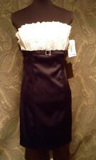 Roberta Black/White Formal Cocktail Dress Sz 11/12 NWT!