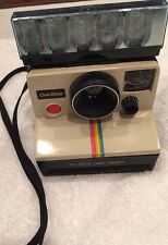 VINTAGE POLAROID SX-70 ONESTEP WHITE RAINBOW  LAND CAMERA - UNTESTED With Flash