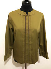 Cult Vintage '60 Women's Shirt Cotton Lace Blouse Cotton Woman Shirt Sz. M - 44