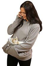 Kittyroo Cat Carrier Sweatshirt w/ Hoodie, Kitten Carrying Soft Sweatshirt Small