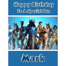 Fortnite Birthday Card - Personalised - Son Grandson Brother Boy Children