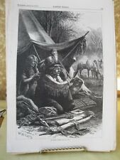 Vintage Print,INDIAN TOILET #2,Native American,Harpers,August 1876