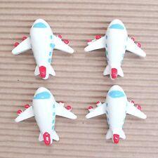 "US SELLER - 10pc x 1.25"" Resin Airplane/Aeroplane Flatback Embellishments SB617W"