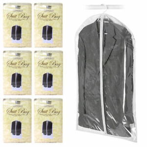 6 Plastic Clear Dust-proof Cloth Cover Suit Dress Garment Bag Storage Protector