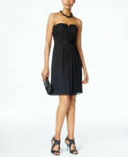 Adrianna Papell Strapless Lace Dress BLACK SIZE 14