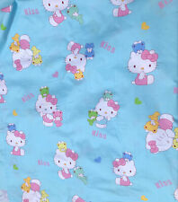 Hello Kitty Cartoon Cotton Fabric.Light Blue Color.Great Quality. BTY