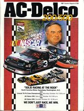 "1991 (Oct. 19-20) AC-Delco 200/500 NASCAR program ""Solid Racing at the Rock"""