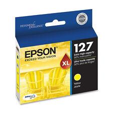 Genuine Epson T127 127 Yellow printer ink Workforce 845 645 545 60 NX625 NX530