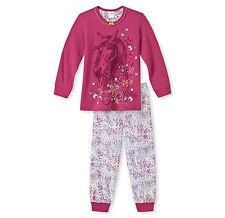 Schiesser langer Schlafanzug Mädchen Pferde Pyjama Baumwolle Neu