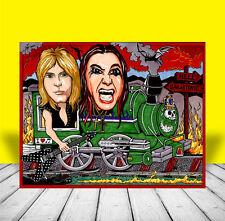 "Ozzy Osbourne & Randy Rhoads ""Crazy Train"" artist signed Heavy Metal Poster Art"