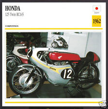 1962 Honda 125cc Twin RC145 Japan Race Bike Motorcycle Photo Spec Info Stat Card