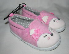 New Pink Bunny Rabbit Slip On Loafers Shoes Slippers Toddler Girls Boys Size 6
