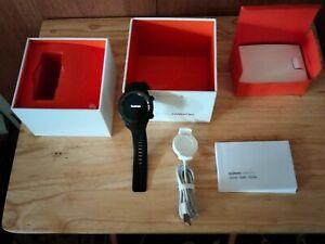 Huawei Watch 2 45mm Black Plastic Case Black Rubber Sport Strap - (55021667)
