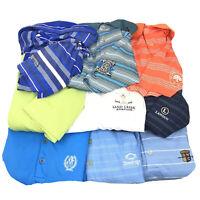 Nike Golf Polo Huge Lot Of 9 Shirts Mens Size L Large Dri Short Random Logos