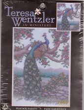 Peacock Majesty Teresa Wentzler Miniature Counted Cross Stitch Kit 18 Count Aida