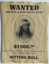 Sitting Bull Wanted Poster, Western, Old West, Indian, Lakota