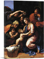 ARTCANVAS The Holy Family 1518 Canvas Art Print by Raphael