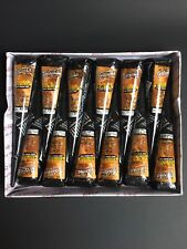 US SELLER!!12 GOLECHA BLACK HENNA CONES TEMPORARY TATTOO INK FAST DRYING