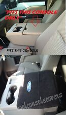 2011 - 2019 FORD F150 F250 BLACK Center Console Cover Armrest Embroidered logo