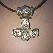 NORSE CELTIC VIKING **THOR's HAMMER** PEWTER PENDANT+ LEATHER CORD **SWEDEN**