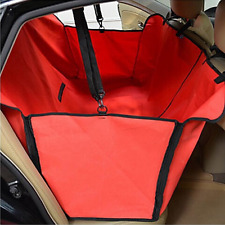 Minidiva Foldable Waterproof Dog Car Safety Hammock Seat Cover for Pets (Red)