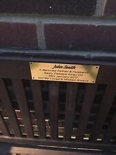 Brass Effect or Silver Memorial Bench Plaque 6x2