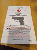 Ruger LC9 Original Factory Instruction Manual