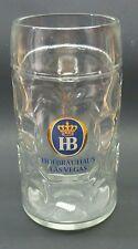 GERMAN GLASS BEER STEIN HB HOFBRÄUHAUS LAS VEGAS 1 LITER TANKARD MUG