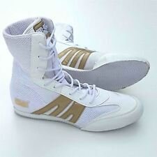 Pro Box Senior Boxing Boots Adults Mens Womens White Gold Training Sparring Shoe