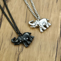 Elephant Pendant Necklace Human Pet Ash Urn Cremation Memorial Stainless Steel