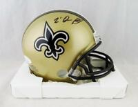 Trequan Smith Autographed New Orleans Saints Mini Helmet- JSA Witnessed Auth