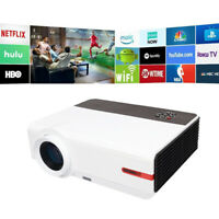 1080P FULL HD WIFI Beamer Android Video Heimkino HDMI LED Projektor 5000 Lumens