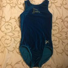 Gk Blue Gymnastics Leotard w/ School Name & Logo - Girls Size 7-8 - Pretty