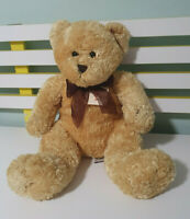 TEDDY AND FRIENDS CAVERSHAM TEDDY BEAR 40CM BROWN WITH BROWN BOW