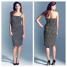 Simply Be Size 18 Project D Plaza Ruffle Spot DRESS Occasion Party Evening £70