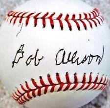 BOB ALLISON (D.1995) (A.L. ROY 1959 - SENATORS - TWINS) SIGNED OAL BASEBALL JSA