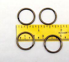 "100 KEY RINGS 20mm Approx 3/4"" Split Ring  Antique Brass Finish ~ Steel Findings"