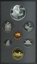 Canada 1995 Double Dollar $1 Proof Coin Set Silver COA Box Hudson's Bay Black