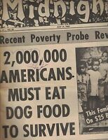 Midnight Tabloid July 14 1969 Americans Must Eat Dog Food to Survive