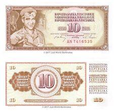 Yugoslavia 10 Dinara 1968 P-82c Banknotes UNC