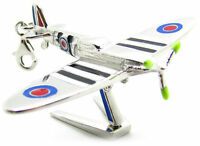 925 Solid Sterling Silver Supermarine Spitfire WW2 Fighter Plane,Pendant,15.5g